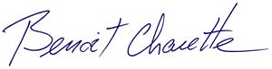 Signature de M. Benoit Charette