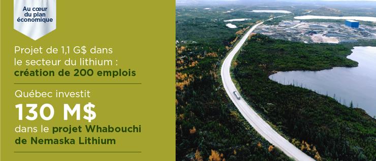 Investissement majeur dans le projet Whabouchi de NemaskaLithium
