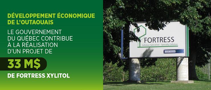 Développement économique de l'Outaouais - Les gouvernements du Canada et du Québec contribuent à la réalisation d'un projet de 33millions de dollars de FortressXylitol