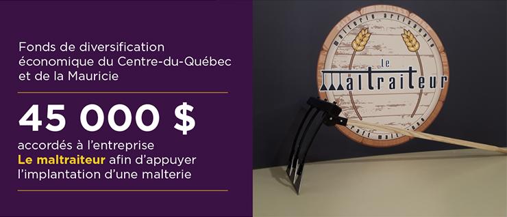 Fonds de diversification économique du Centre‑du‑Québec et de la Mauricie - Québec soutient l'implantation de la malterie LeMaltraiteur à Trois‑Rivières