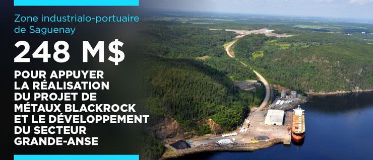 Développement économique régional - Québec investit 248M$ dans la réalisation du projet de Métaux BlackRock et le développement du secteur Grande‑Anse