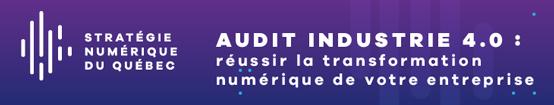 Strategie numérique du Québec - Audit industrie 4.0 : réussir la transformation numérique de votre entreprise