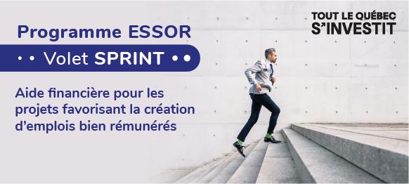 Programme ESSOR Volet SPRINT - Aide financière pour les projets favorisant la création d'emplois bien rémunérés